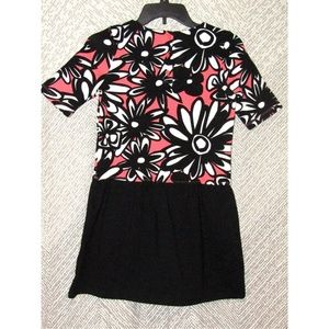 Gymboree Pink Hippie Flowers & Black Outfit